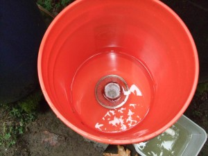 This is the top bucket. The screen is necessary to keep debris out of the small 1/16 inch holes in the slip cap slow drain.